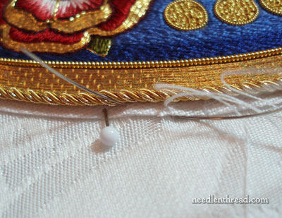 Appliquéing Embroidery to Ground Fabric