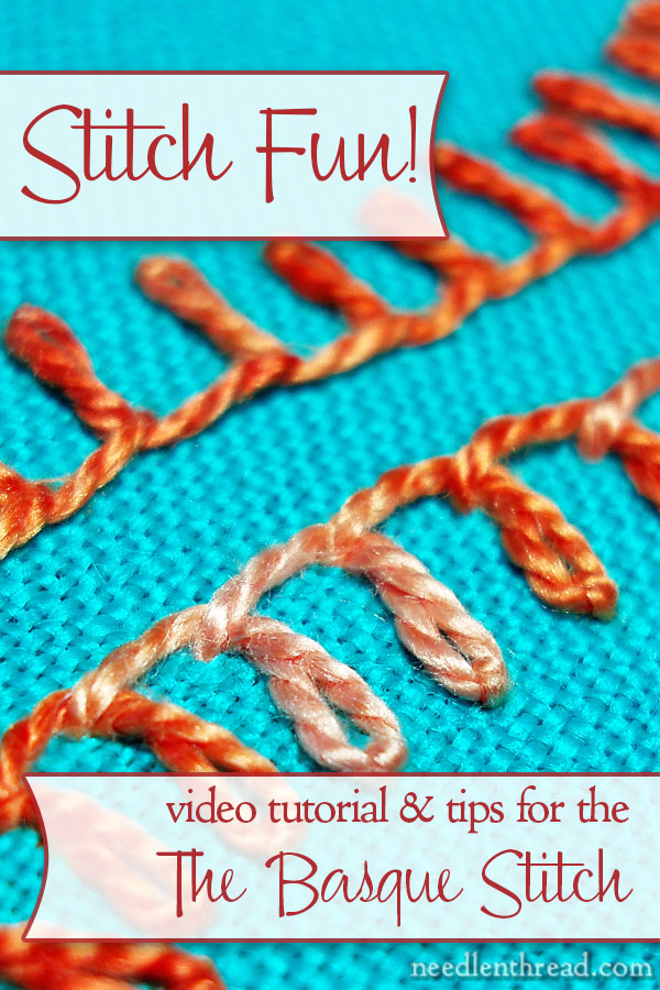 Basque Stitch Video Tutorial