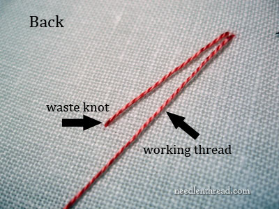 How to Start and End Isolated French Knots