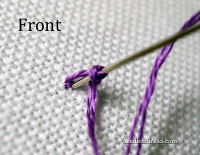 Isolated French Knots Part 2  NeedlenThread