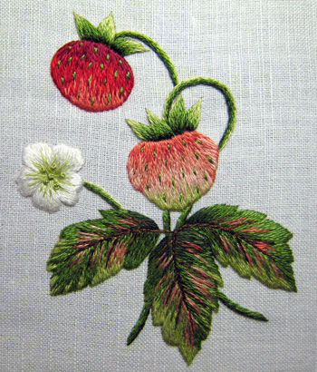 Vintage Strawberries needlepainting class
