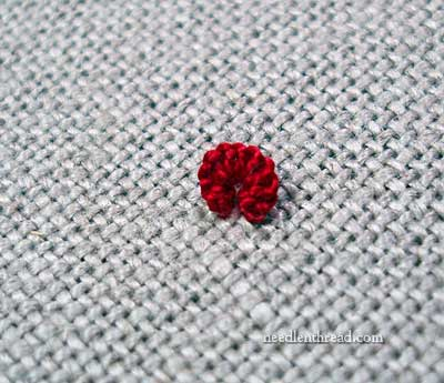 Cast-On Stitch Rose