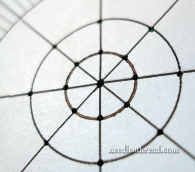 Polar Graph Paper for Embroidery Measurements