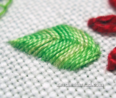 Raised Fishbone Stitch