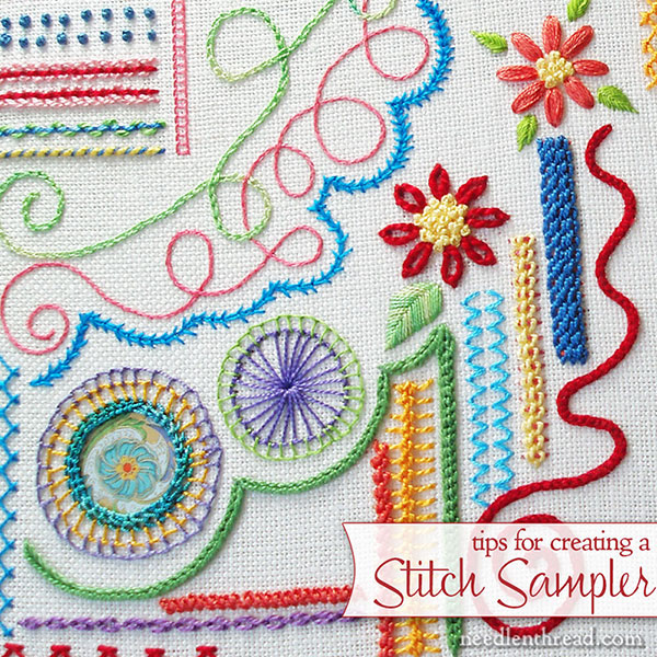 On Embroidery Stitches Samplers Needlenthread