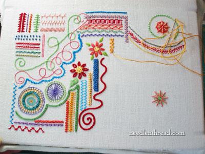 Random Embroidery Stitch Samplers