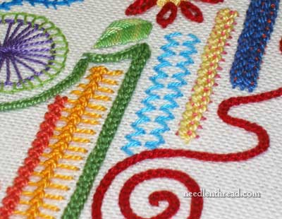 Hand Embroidery Sampler Stitches
