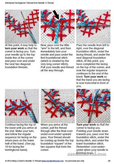 Interlaced Herringbone Printable Tutorial