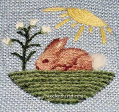 Little Bunny Embroidered in Wool