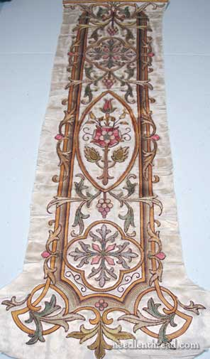 19th Century Church Embroidery in Silk Tambour Work and Goldwork