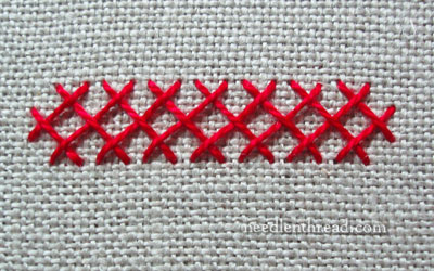 Interlaced Herringbone Stitch