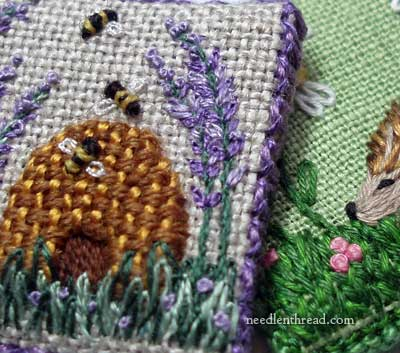 Woven Filling in Embroidery