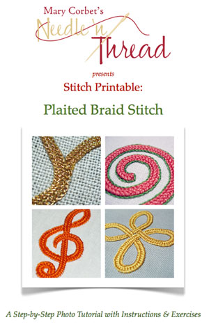 Plaited Braid Stitch Video and Instructions