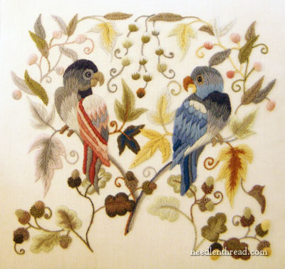 Mellerstain Parrots from The Crewel Work Company