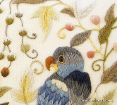 The Crewel Work Company Mellerstain Parrots Kit