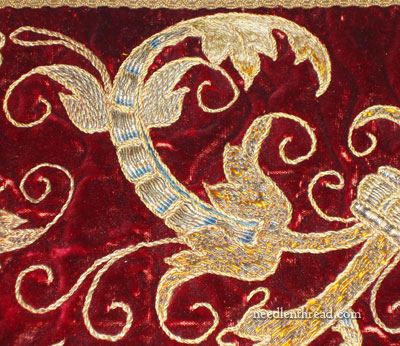 Goldwork on Velvet