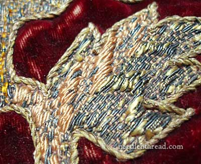 Old Goldwork on Velvet
