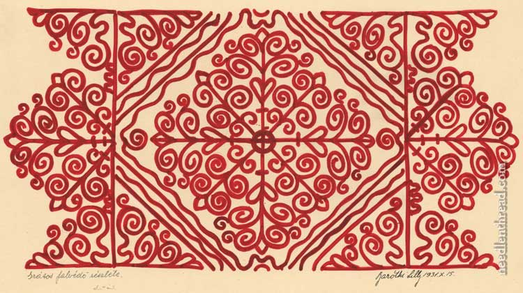 Free Hand Embroidery Pattern Hungarian Redwork NeedlenThread Custom Free Machine Embroidery Patterns To Download