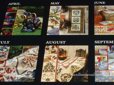 William Morris Applique Calendar 2013