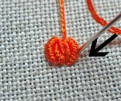 How To Embroidery a Small Pumpkin