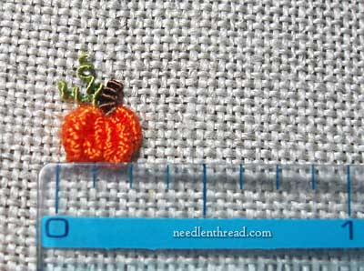 How to Embroider a Small Pumpkin