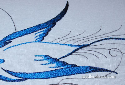 Silk Embroidery - Calligraphy Bird