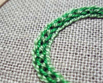 Interlaced Chain Stitch Variation