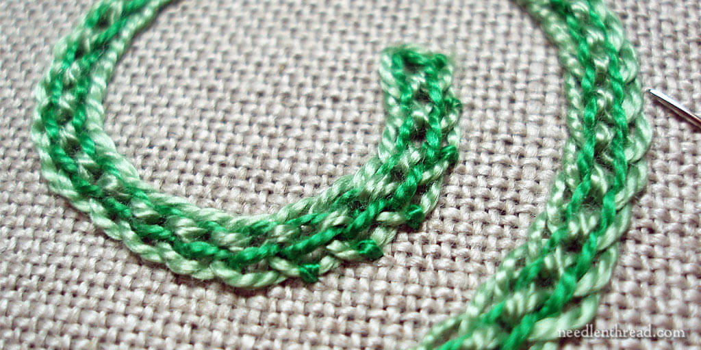 Interlaced Chain Stitch Band