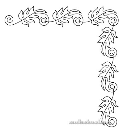 Free Hand Embroidery Pattern - Fall Leaves