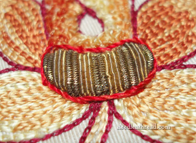 Goldwork & Silk Embroidery Fragment