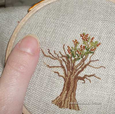 Hand Embroidered Tree