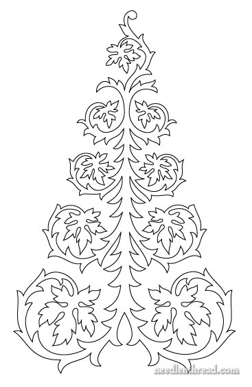 Fishing Line Christmas Tree Patterns http://www.needlenthread.com/2012/10/free-hand-embroidery-pattern-tree-with-leaves.html