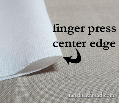 Preparing Linen for hand embroidery