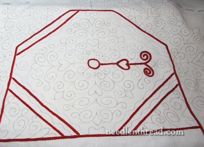 Hungarian Redwork Table Linen