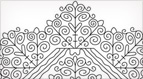 Hungarian Redwork Embroidery Pattern #2