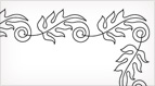 Leafy Corner Embroidery Pattern