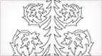 Tree with Leaves Embroidery Pattern