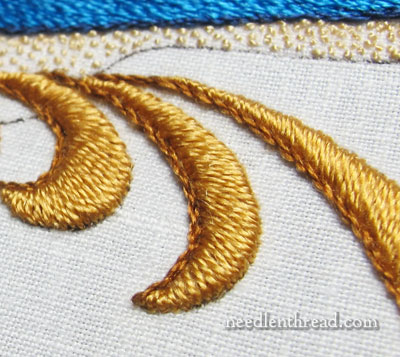 Padded Satin Stitch in Silk
