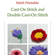 Stitch Printables: Cast-On Stitch and Double Cast-On Stitch