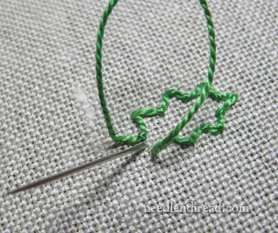 Stitch Play: Hand Embroidered Holly and Christmas Greenery