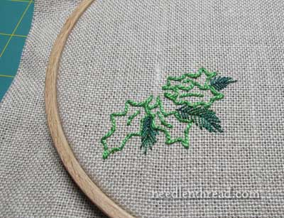 Stitch Play Hand Embroidered Christmas Greenery