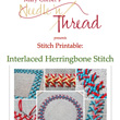 Stitch Printables: Interlaced Herringbone Stitch