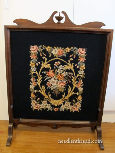 Needlepoint Tapestry in a Firescreen Yes  It s Fire Screen NeedlenThread com