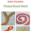 Plaited Braid Stitch Printable Instructions