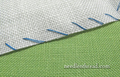 Neatening the Fabric Edge on Embroidery Projects