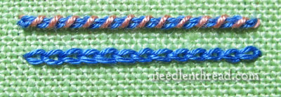 Laced and Whipped Embroidery Stitches
