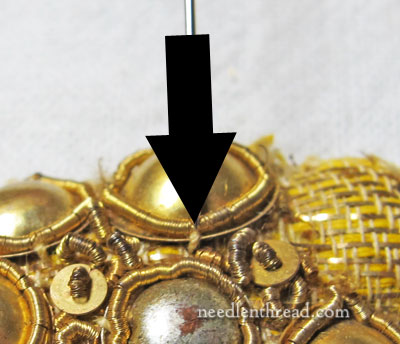 Taking Apart Goldwork Embroidery