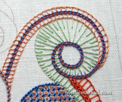 Embroidered Lattice Filling Sampler