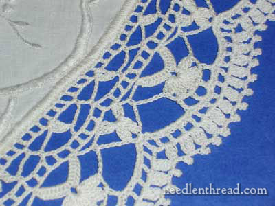 Vintage Linen with Crocheted Edge