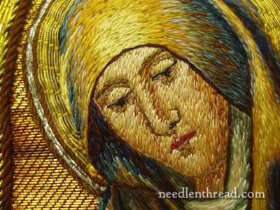 Figure Embroidery of Blessed Virgin Mary